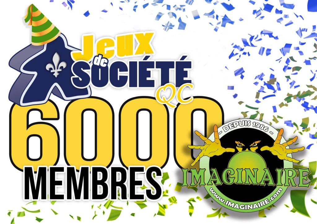 6000 membres !